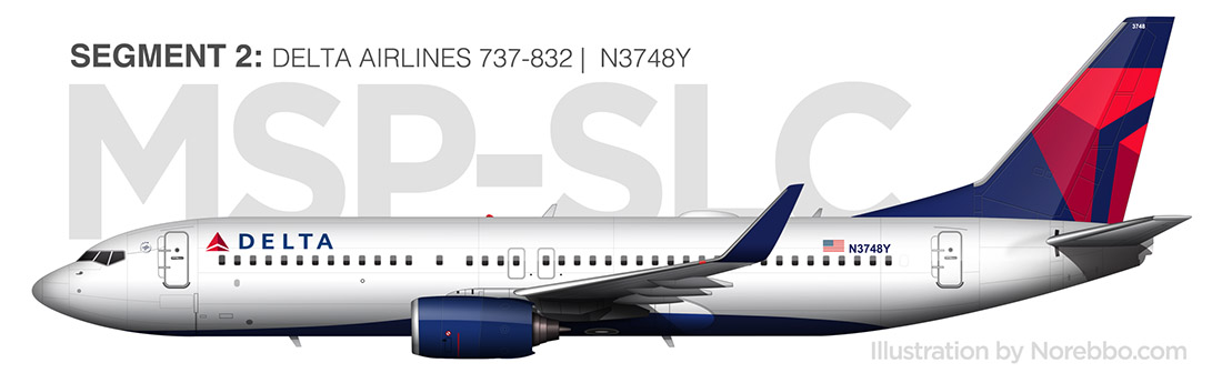 delta 737-800 side view drawing