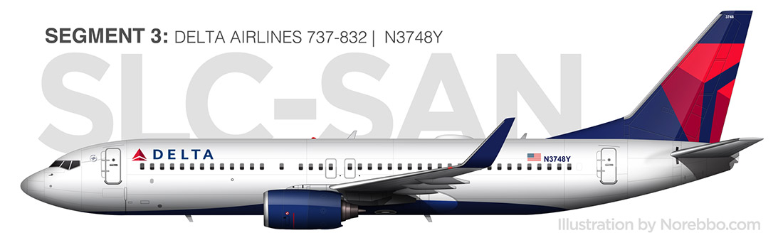 delta airlines 737-800 side view
