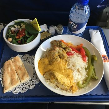sun country airlines first class food