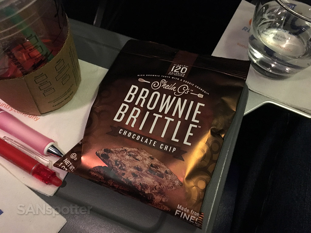 snack basket brownie brittle