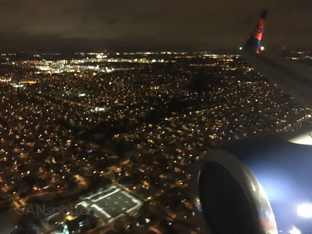descending into MSP at night