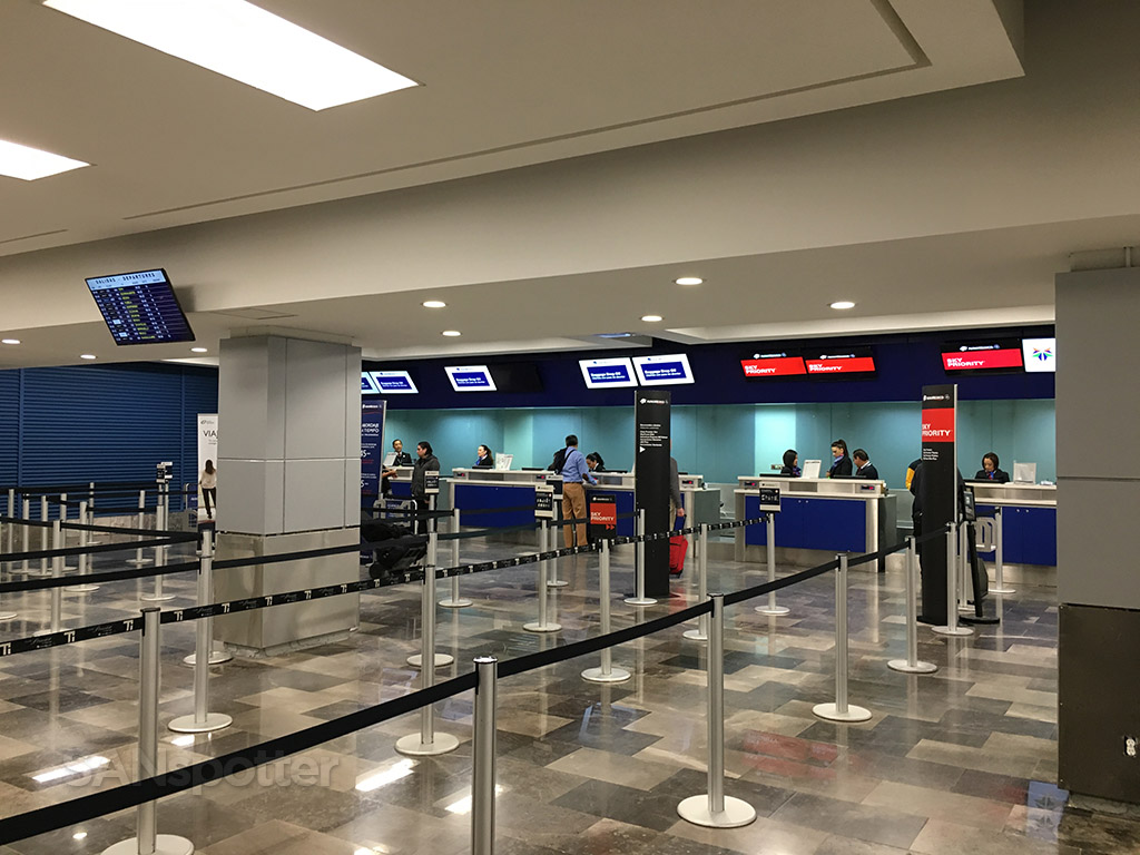 AeroMexico check in desk tijuana airport