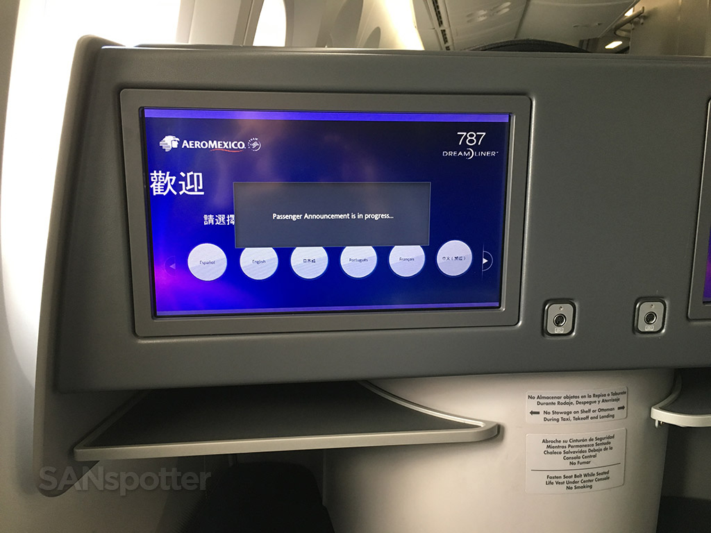business class video screens