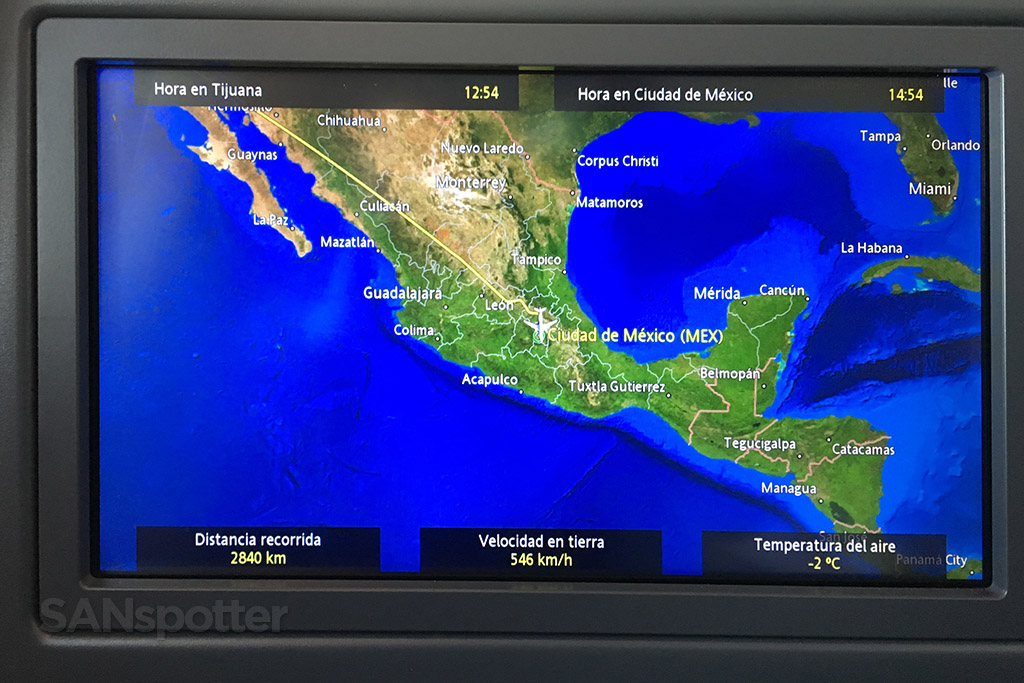 aeromexico moving map