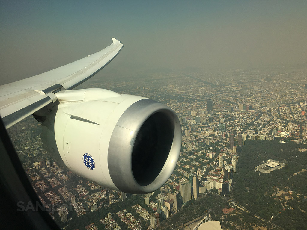 overflying mexico city