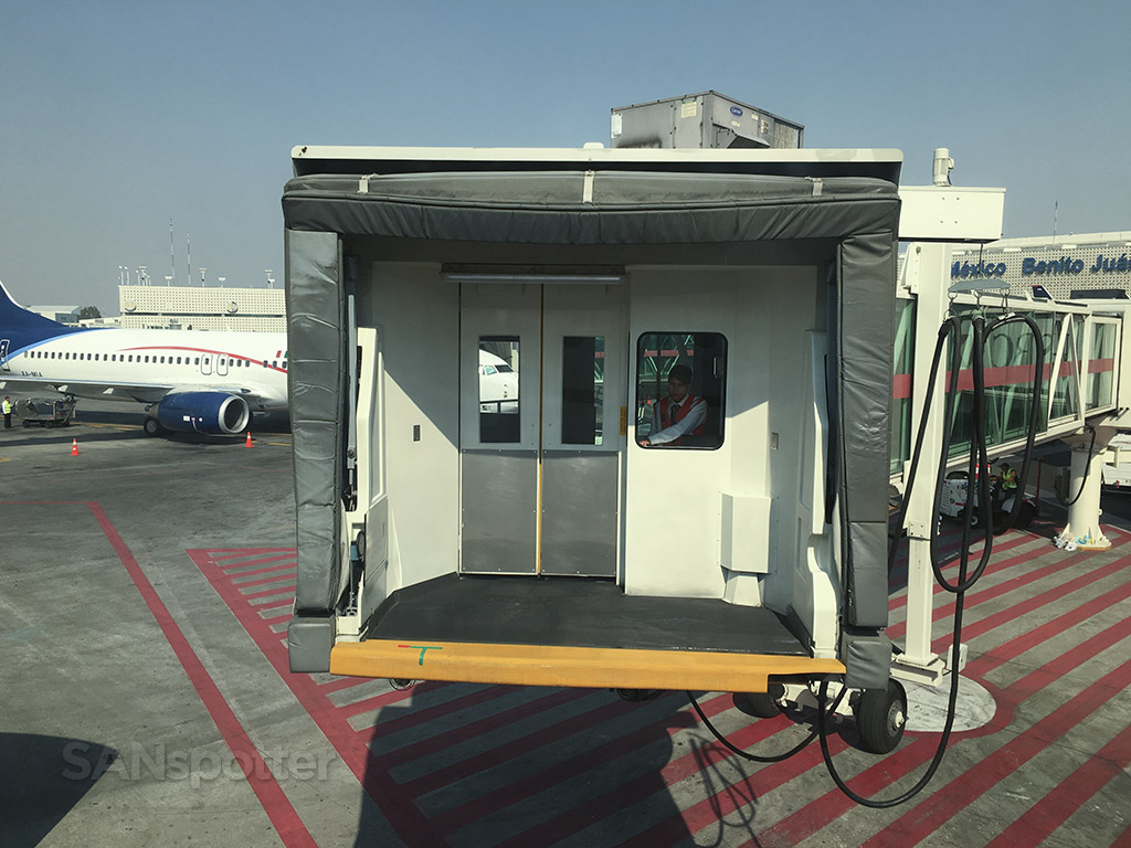 jet bridge at mexico city airport