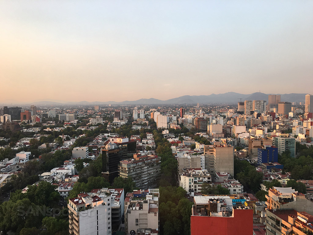view from hotel room presidente intercontinental mexico city