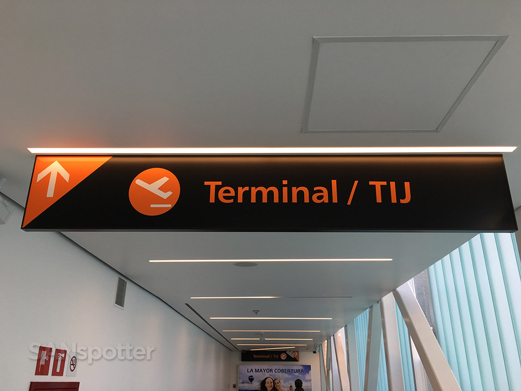 tijuana airport signage