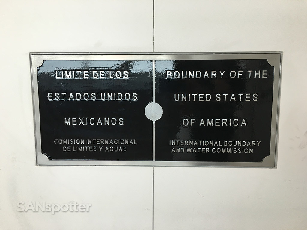 border crossing plaque