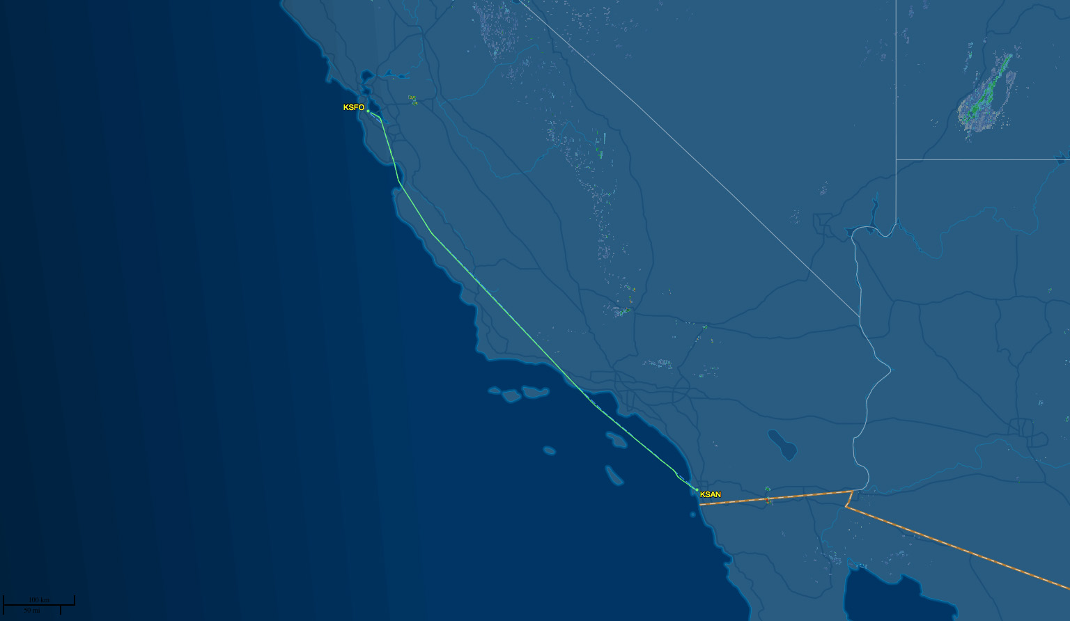san-sfo route map