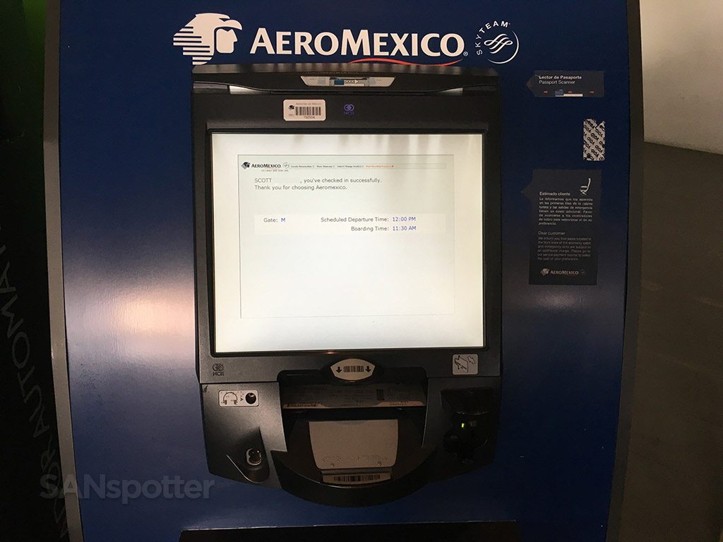 aeromexico kiosk mexico city airport