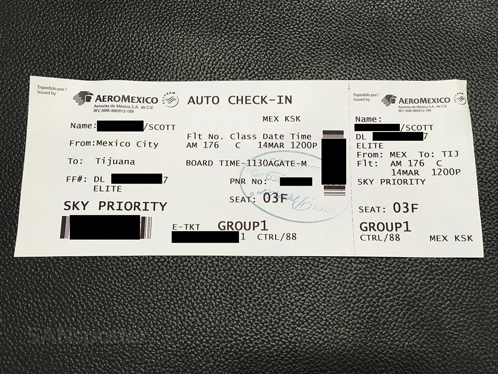 aeromexico paper boarding pass