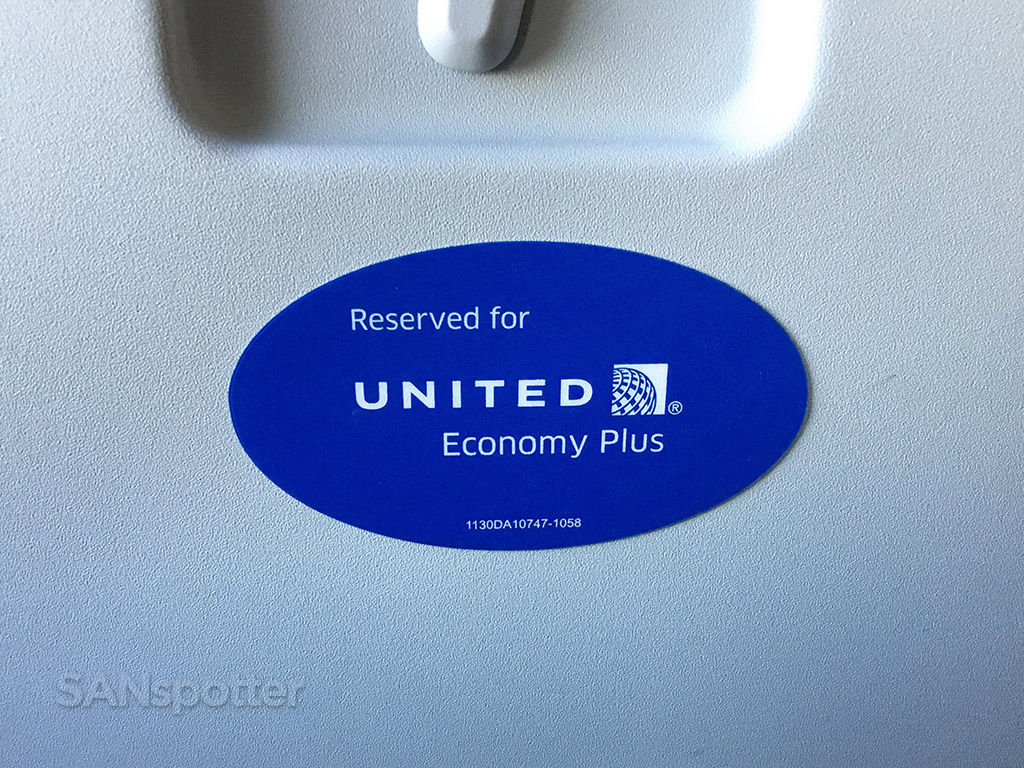 Reserved for United Economy Plus