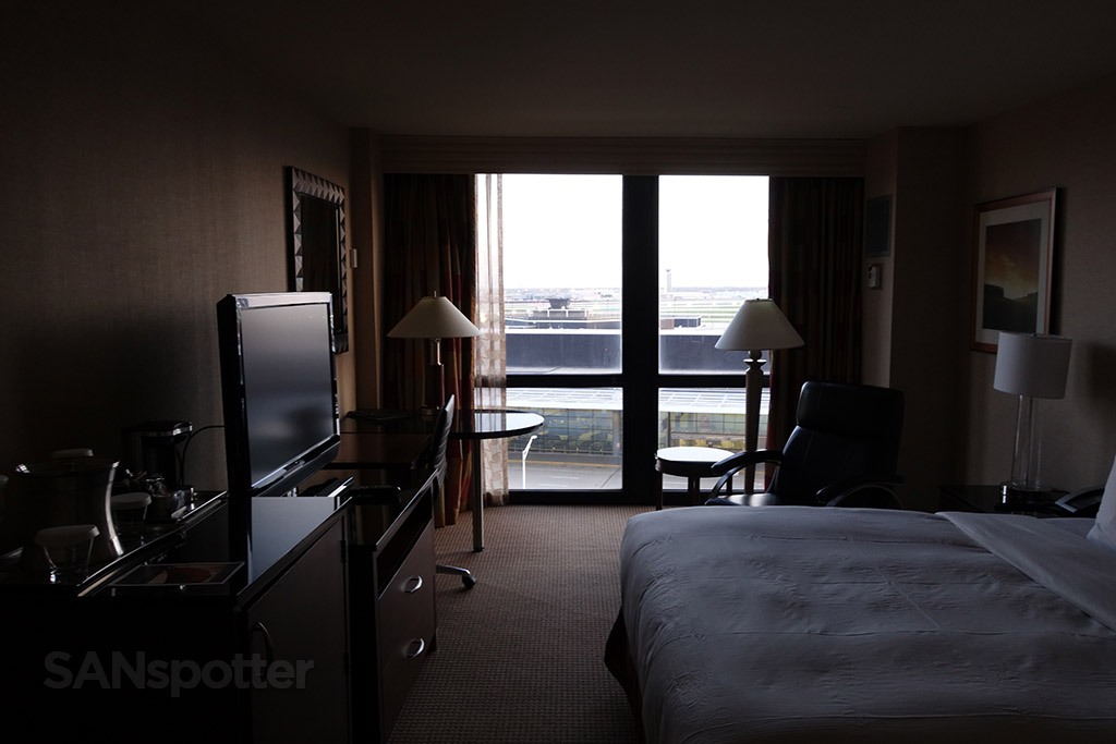 Hilton O'Hare room big windows