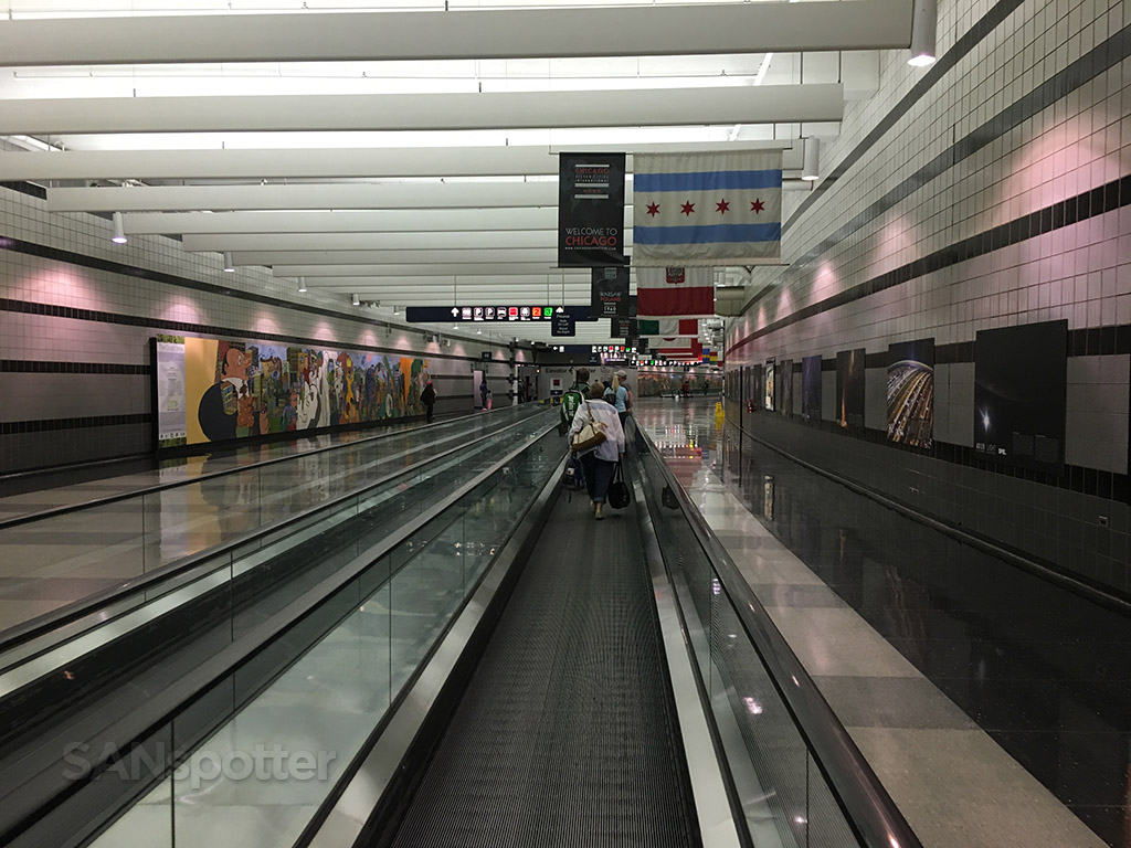 underground walkway chicago O'Hare ORD