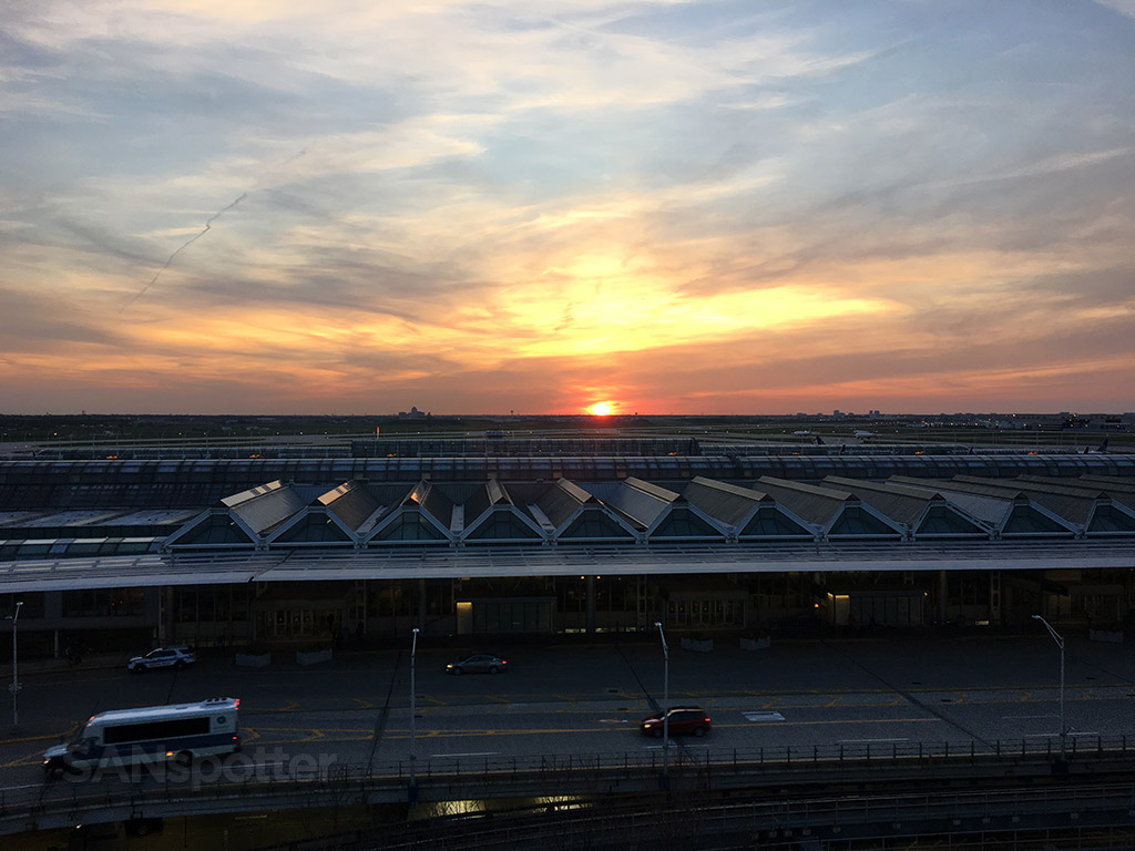 overlooking O'Hare airport from Hilton hotel
