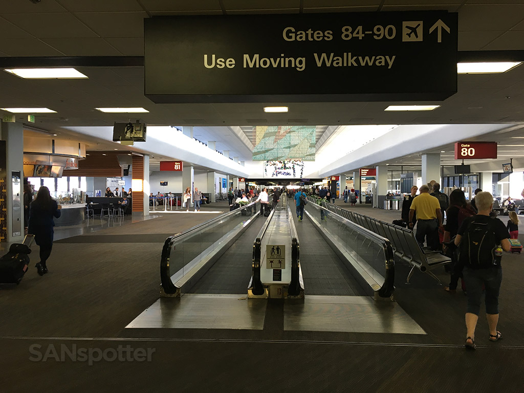 walking through san francisco airport