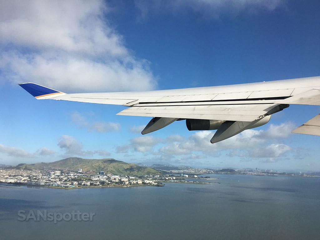 departing runway 1r SFO