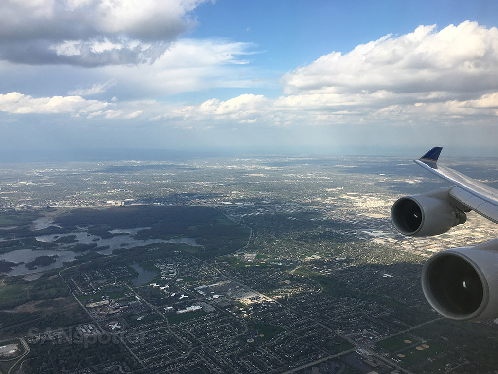 departing chicago o'hare in a 747-400