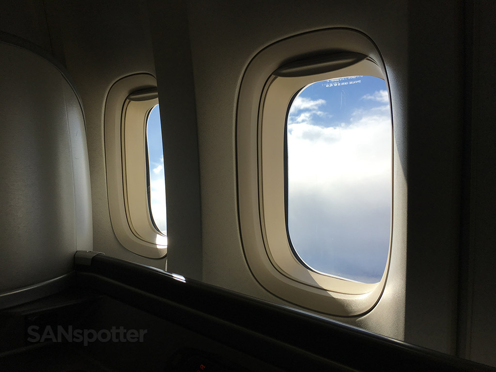 view from inside a 747-400