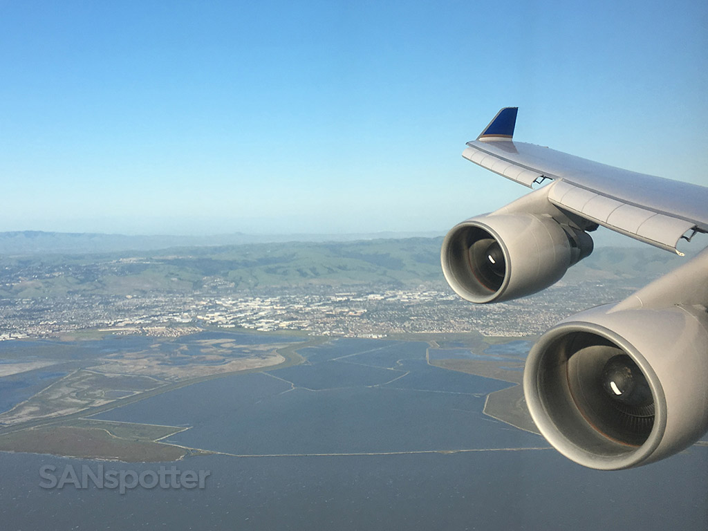 united airlines 747-400 SFO approach