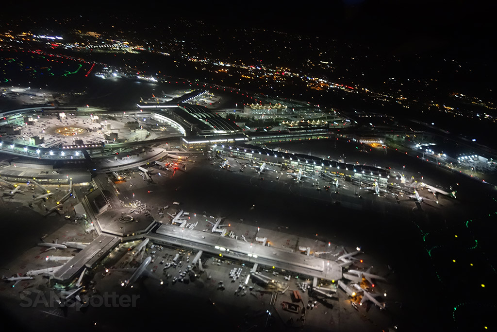 night time SFO departure