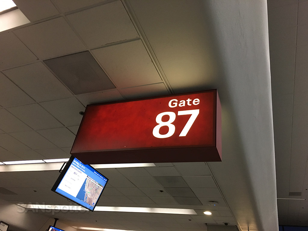 Gate 87 signage