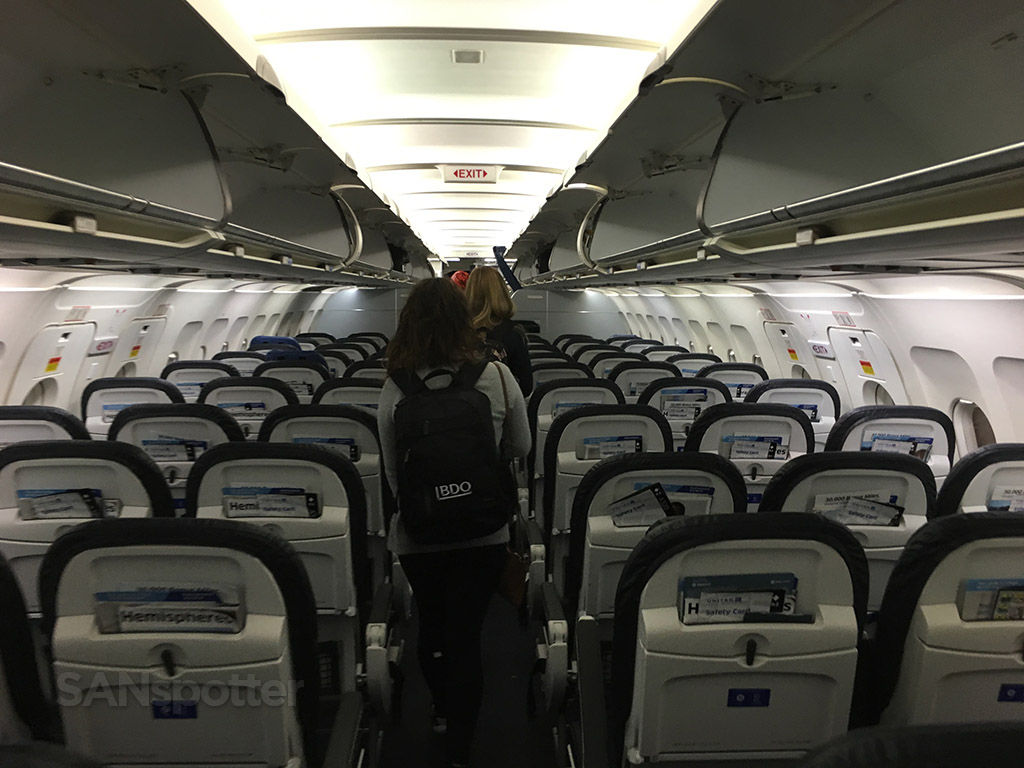 united a320 economy class