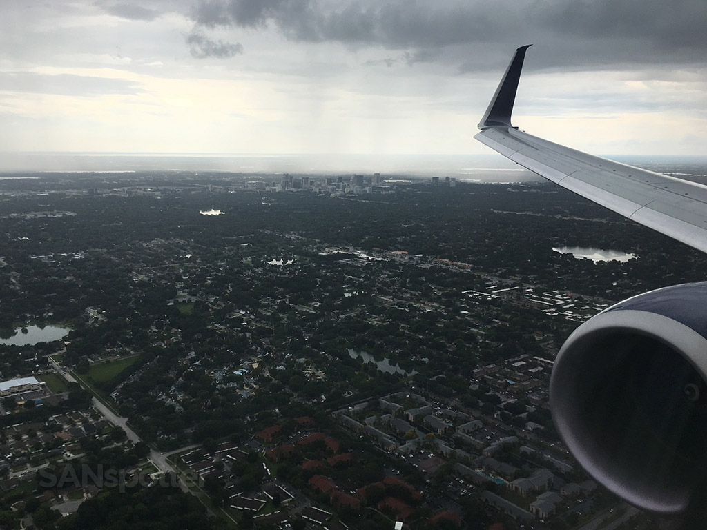 approaching orlando airport MCO