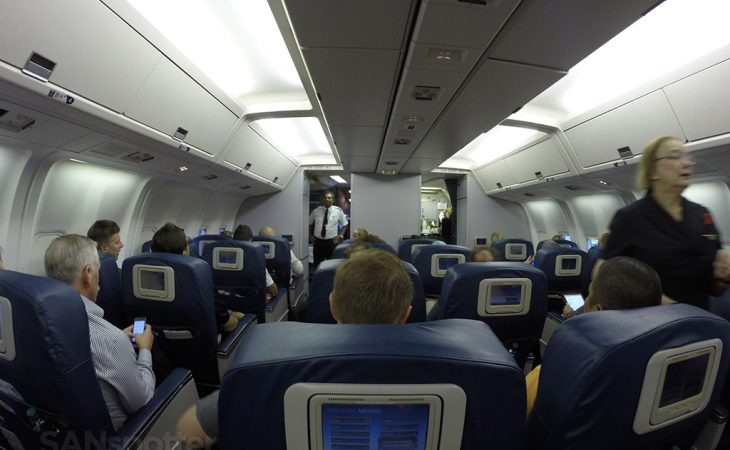 delta airlines 767 first class cabin