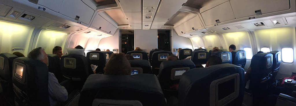 delta airlines 767 first class cabin panorama