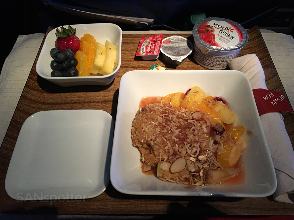 delta airlines first class breakfast