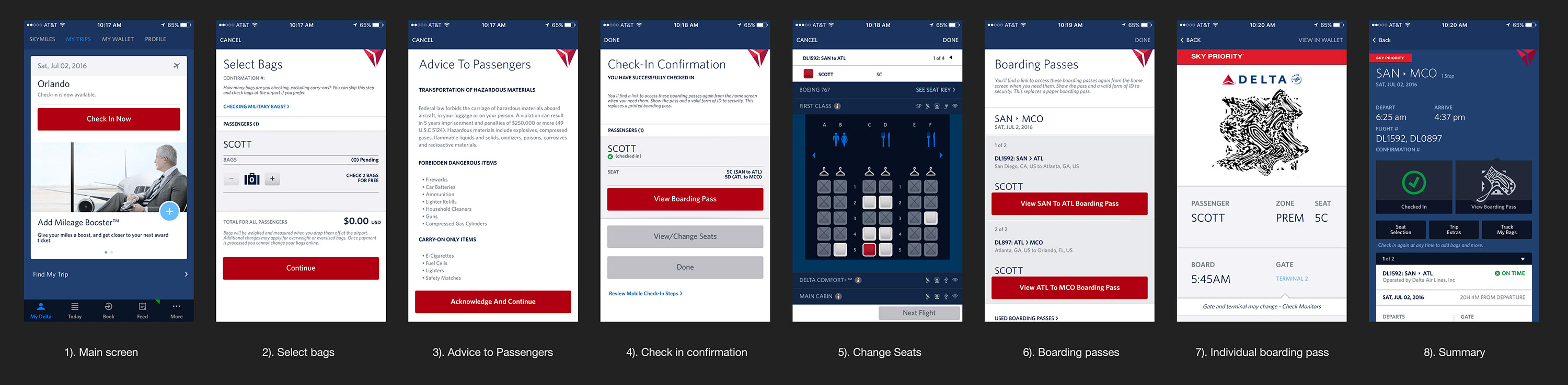 delta airlines mobile app check in