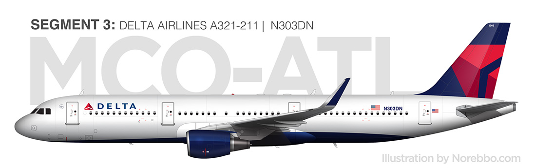 delta airlines a321 side view