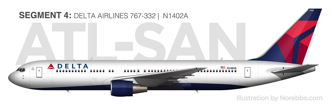 delta 767-300 side view