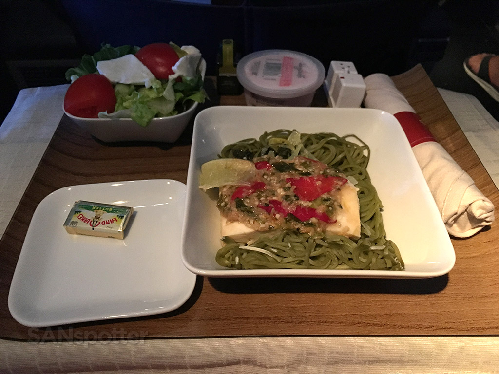 delta airlines domestic first class meal