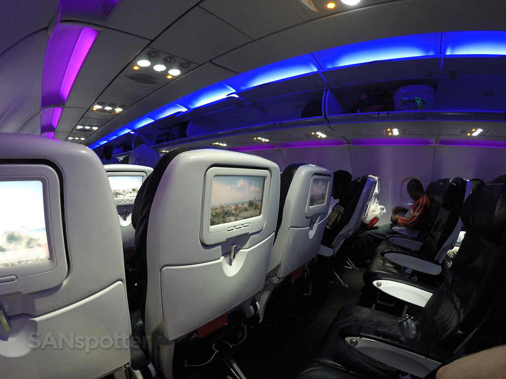 virgin america LED mood lighting