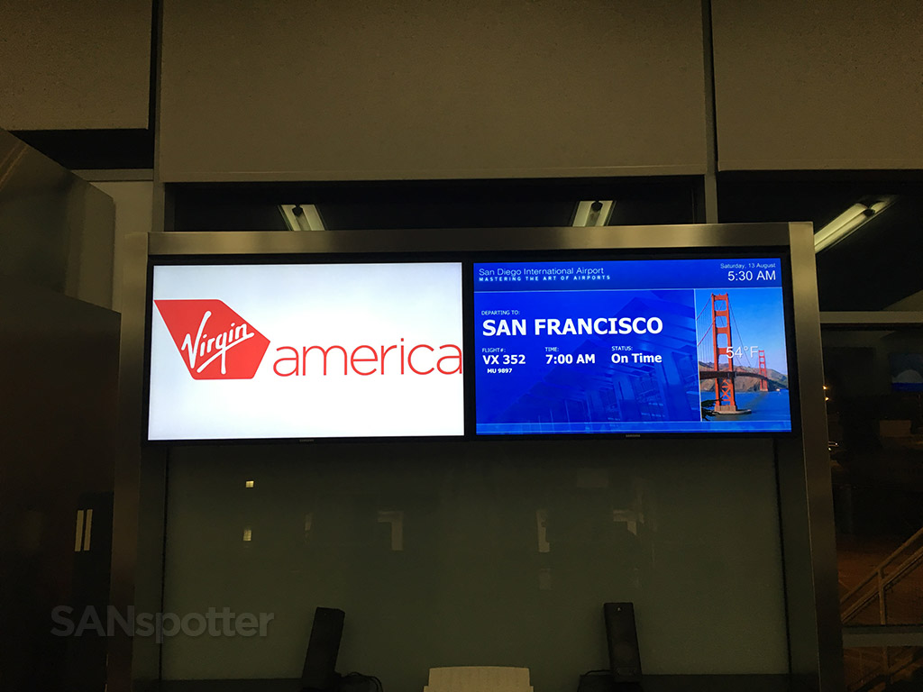 virgin america flight information board