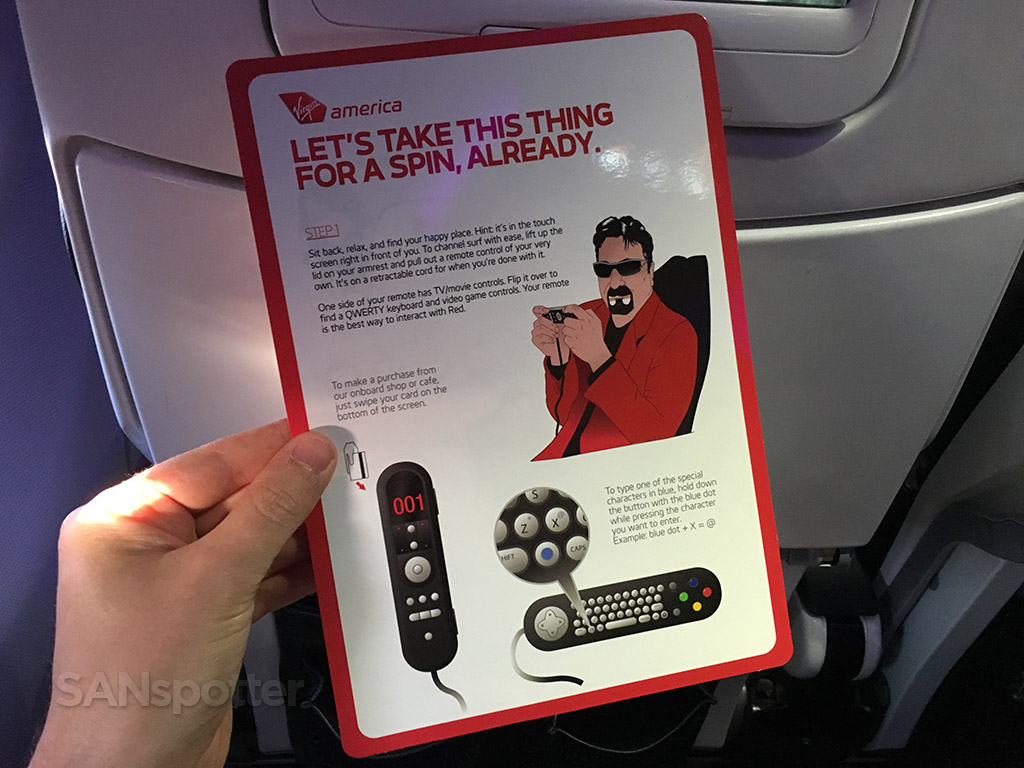 virgin america entertainment system card