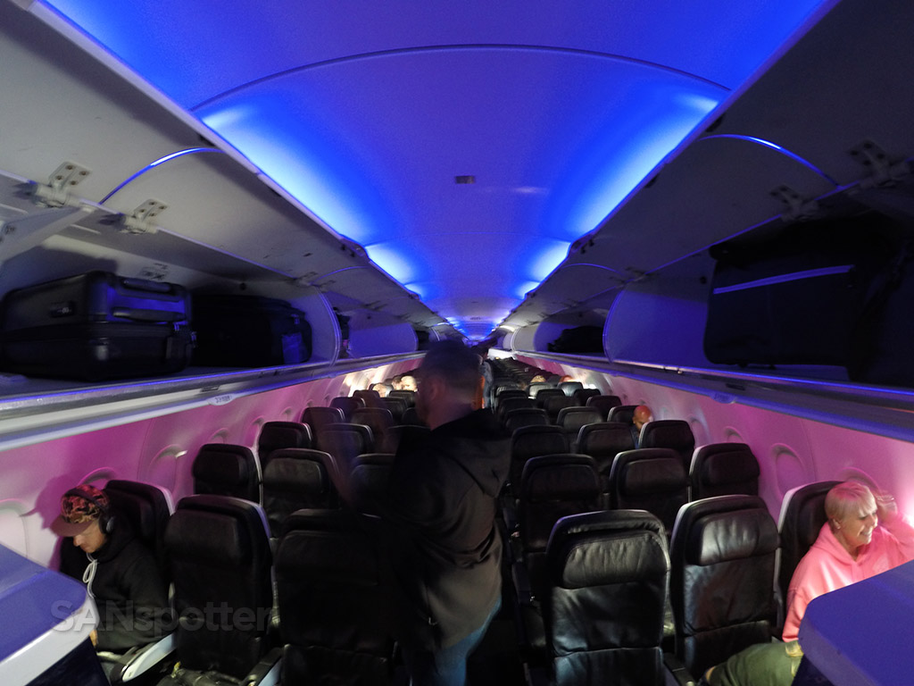 Virgin America A320 main cabin
