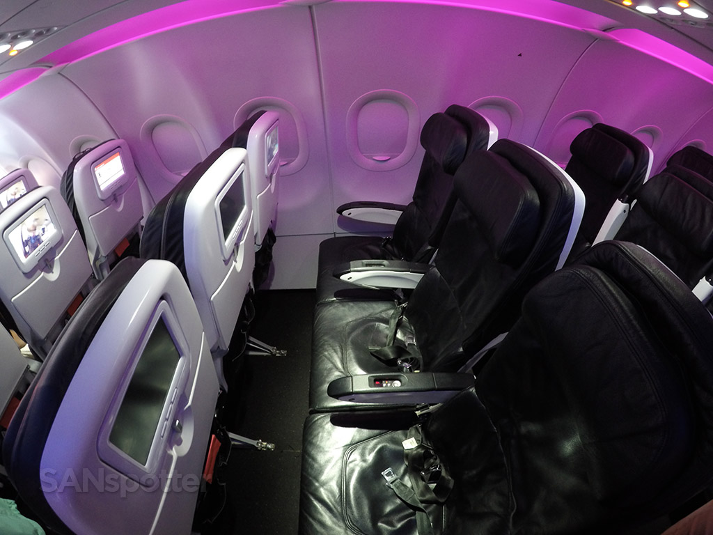 Virgin America main cabin seats