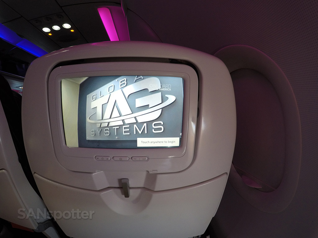 virgin america personal video screens