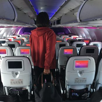virgin america white seat backs