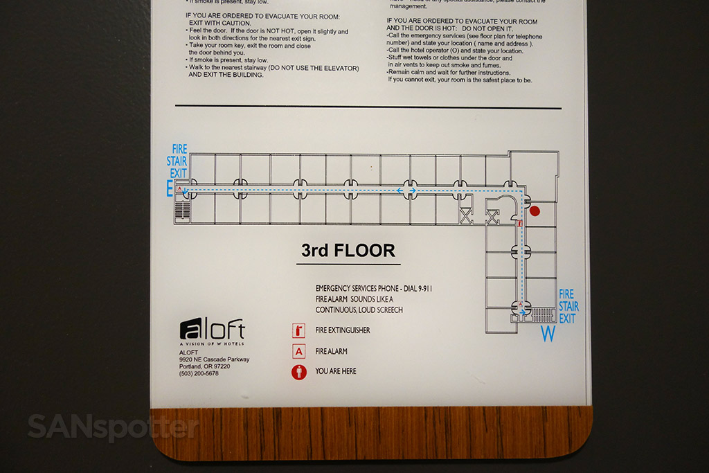 aloft hotel PDX map