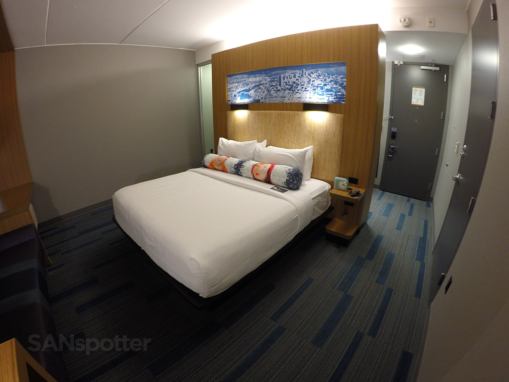 aloft hotel room wide angle