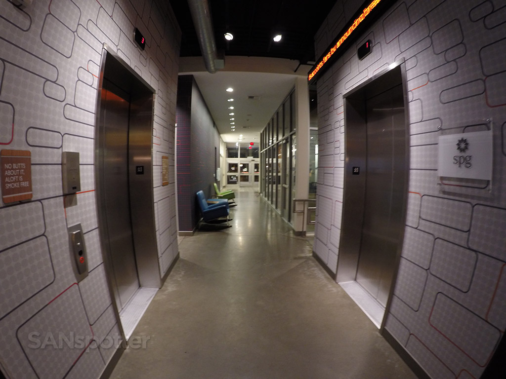 aloft hotel elevators