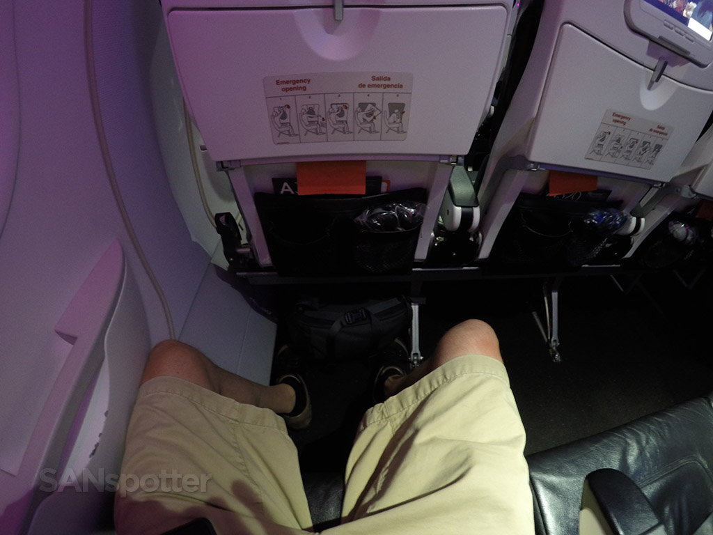 virgin america exit row leg room