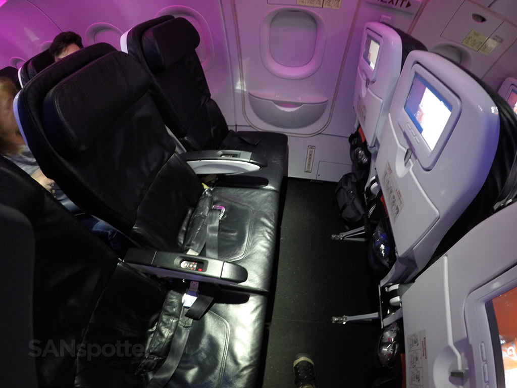 virgin america exit row seats