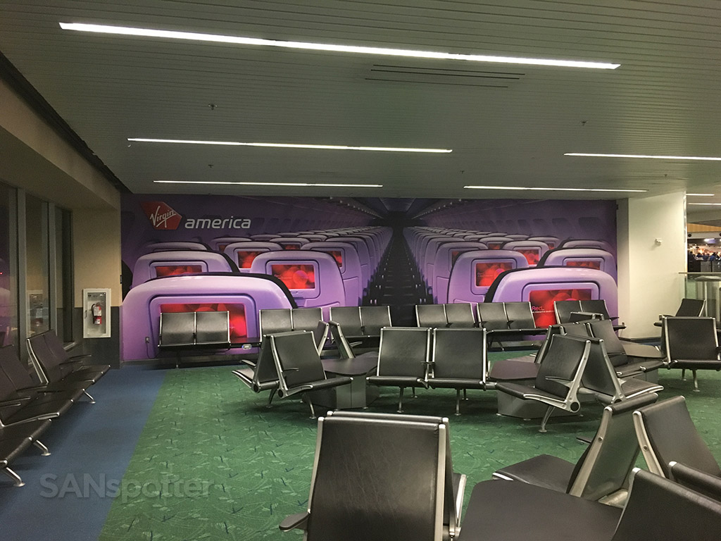 virgin america mural PDX airport