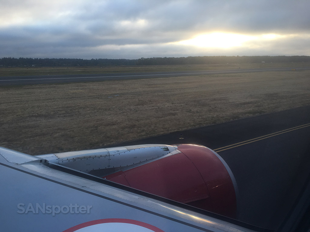 PDX taxi to runway